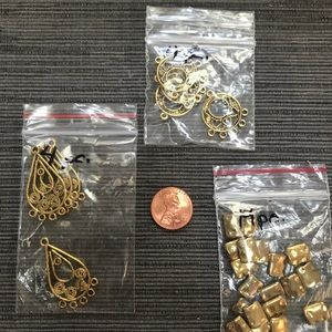 GOLD METAL PENDANT & SPACERS Jewelry Craft Supply